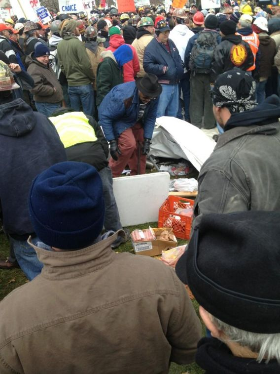 "Union Thugs Demolish Lansing,Michigan Hot Dog Vendor Clint Tarver's Equipment [Photo] Update: ""N*gger, Uncle Tom"" Updates 5 & 7: Clint Confirms The Slurs 